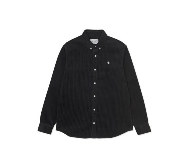Carhartt LS Madison Cord Shirt Black/White