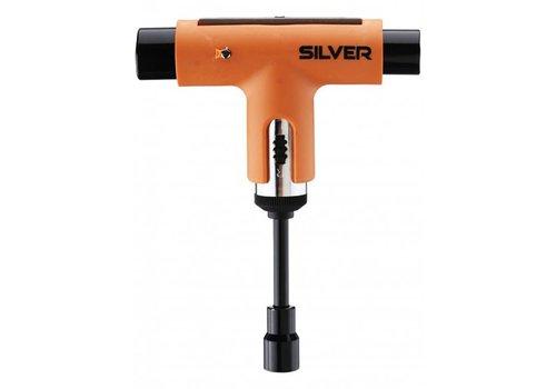 Silver SIlver Tool Neon Orange