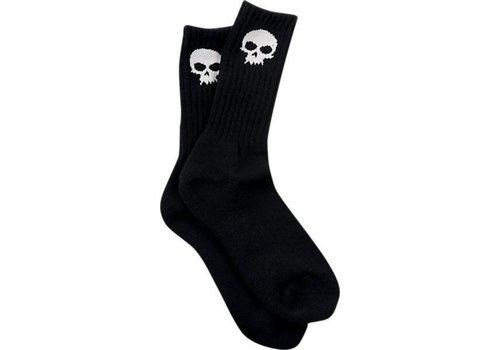 Zero Zero Skull Black Crew Sock (One Size)