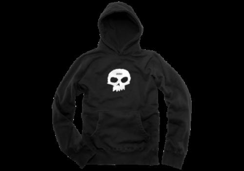 Zero Zero Single Skull Hood Black