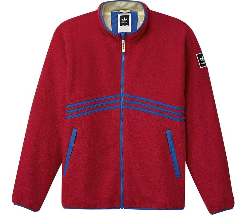 Adidas Sherpa Full Zip Red/Blue/Yellow