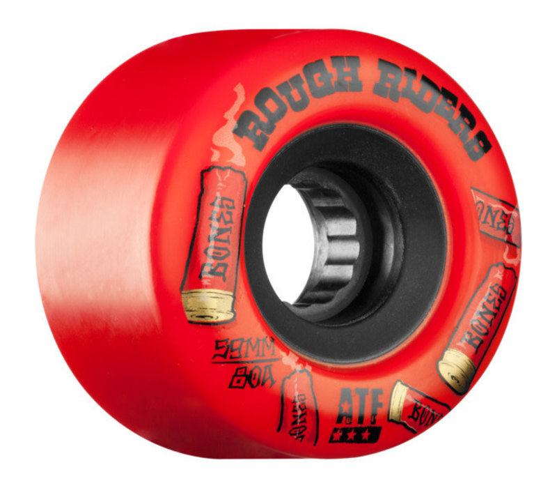 Bones Wheels - 59mm Rough Riders Shotgun 4PK Red