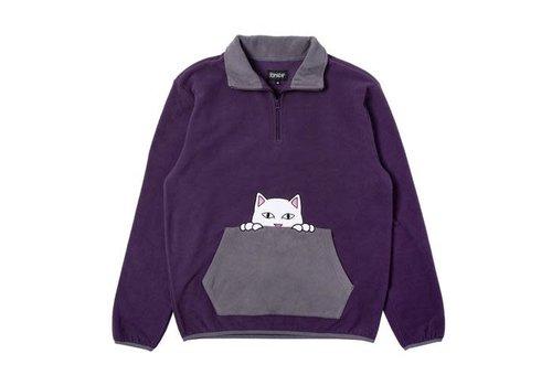Ripndip RipNDip Peeking Nerm Brushed Fleece Half-Zip Purple/Grey