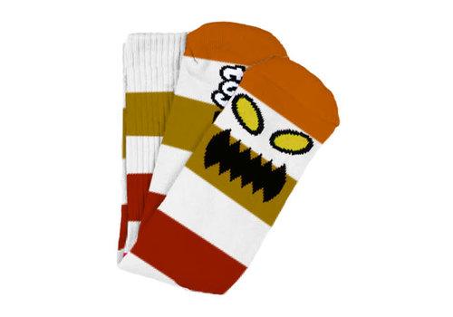 Toy Machine Monster Big Stripe Sock Brown