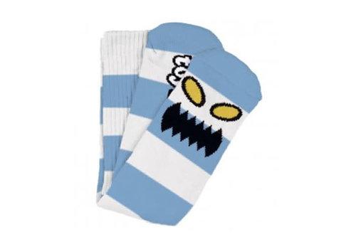 Toy Machine Monster Big Stripe Sock Light Blue