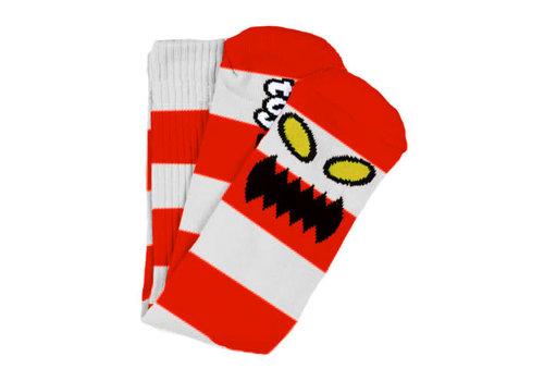 Toy Machine Monster Big Stripe Sock Red