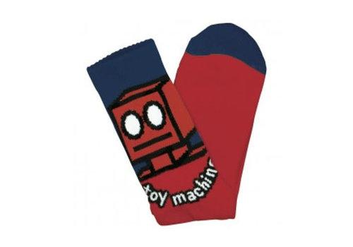Toy Machine Robot Sock Red