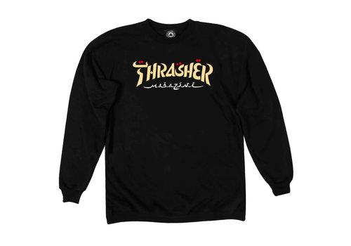 Thrasher Thrasher Calligraphy Crew Black