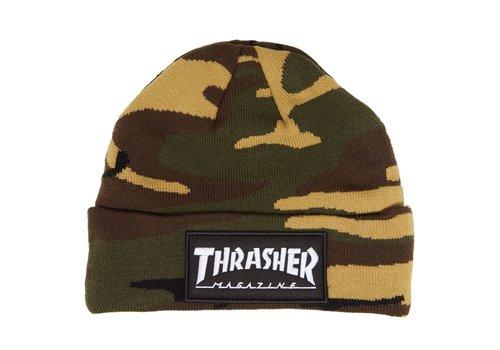Thrasher Thrasher Logo Patch Beanie Camo