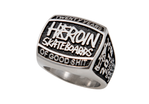 Deathwish Heroin 20 years Silver Ring