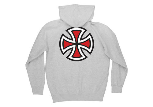 Independent Independent Bar Cross Youth Hood Heather Grey