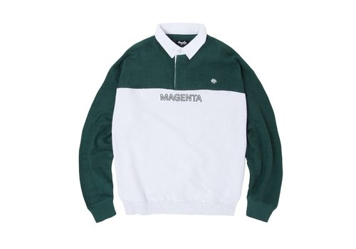 Magenta Magenta Stripped LS Polo Smash Ash/Green