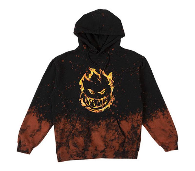 Spitfire 451 Hooded Sweatshirt Black/Acid Splatter