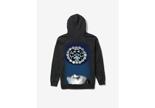 Diamond Diamond Face Down Hoodie Black