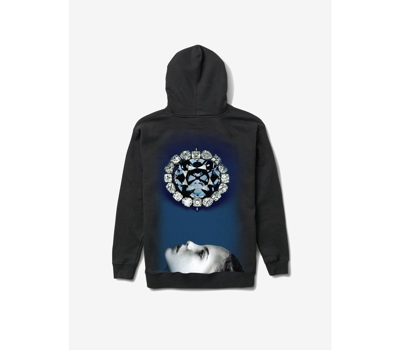 Diamond Face Down Hoodie Black