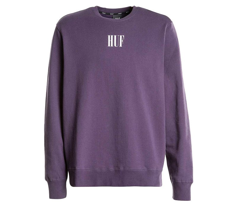 Huf Serif Crewneck Purple Velvet