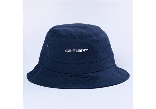 Carhartt WIP Carhartt Script Bucket Hat Dark Navy White S/M