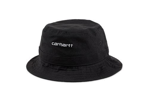 Carhartt WIP Carhartt Script Bucket Hat Black/White M/L