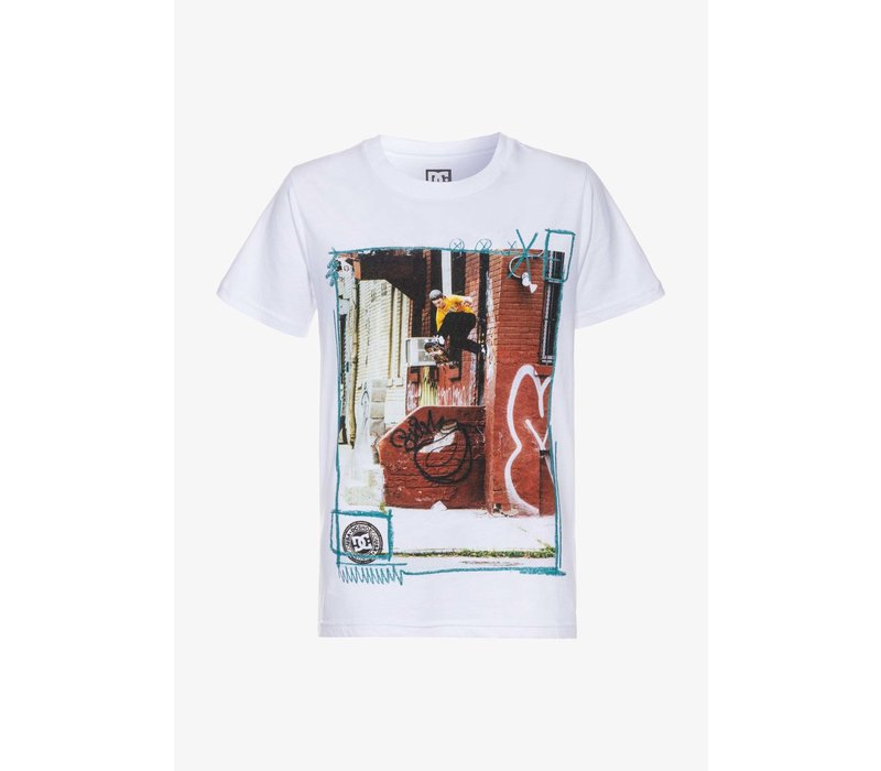 DC Funk Footplant Youth Tee White