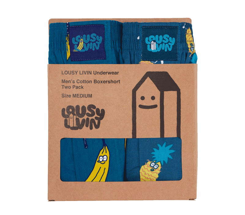 Lousy Livin Two-Pack Boxers Bana-Ananas