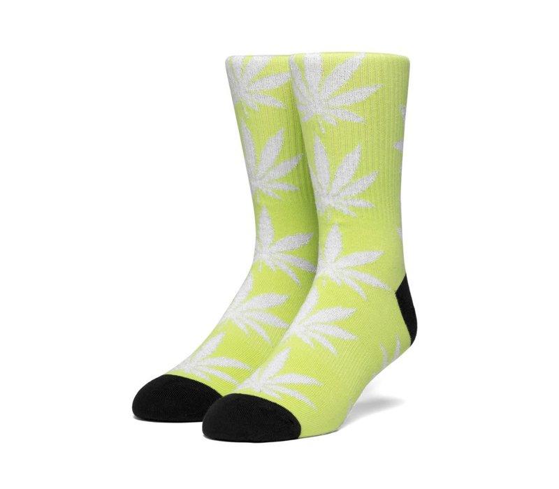 Huf Plantlife Metallic Leaves Sock, Hot Lime