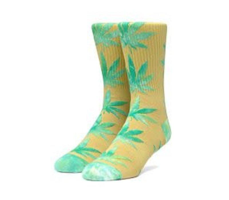 Huf Plantlife Tiedye Leaves Sock, Golden Spice