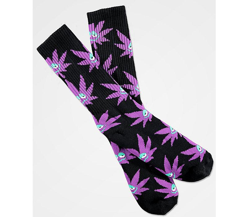 Huf Green Buddy Sock Black