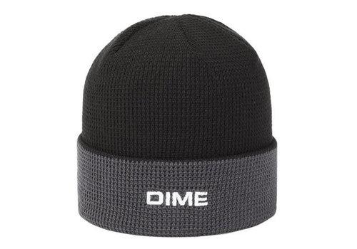 Dime Dime Two Tone Waffle Beanie Black