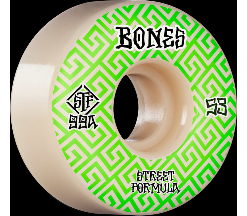 Bones Wheels V2 99a Locks Green Patterns 53mm