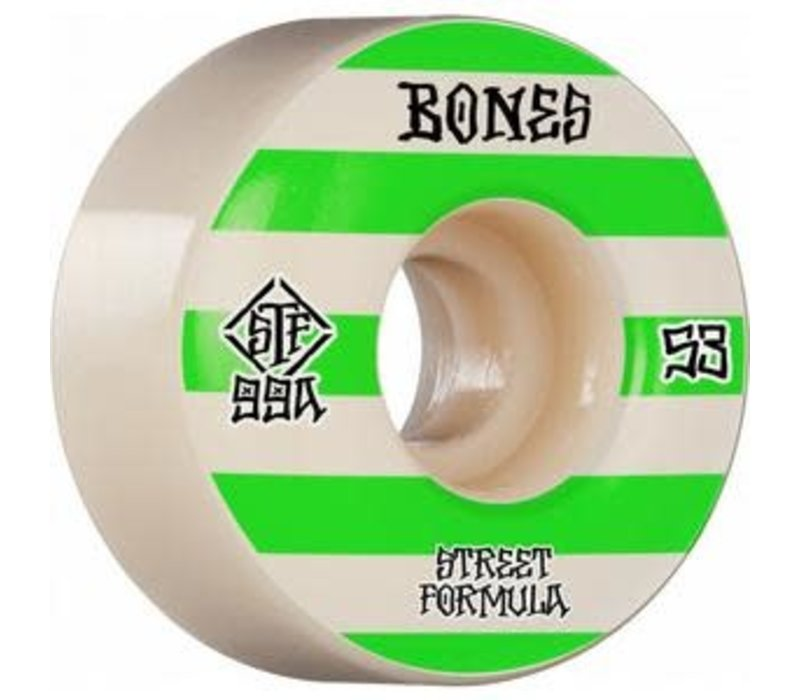 Bones Wheels V4 99a Green Patterns 53mm