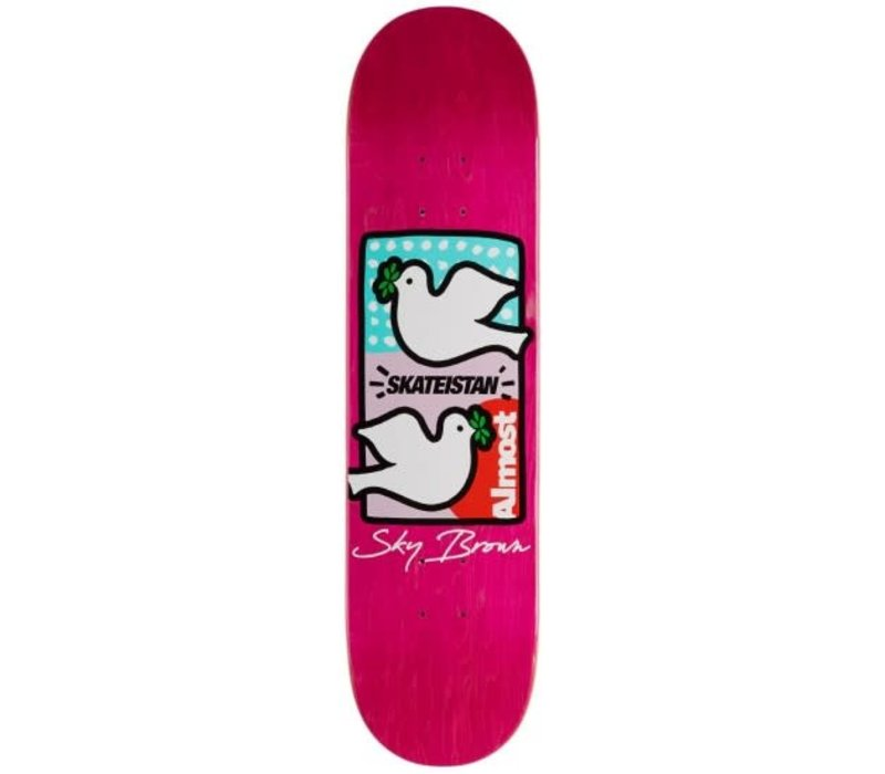 Almost Skateistan Sky Brown Double Doves 7.75
