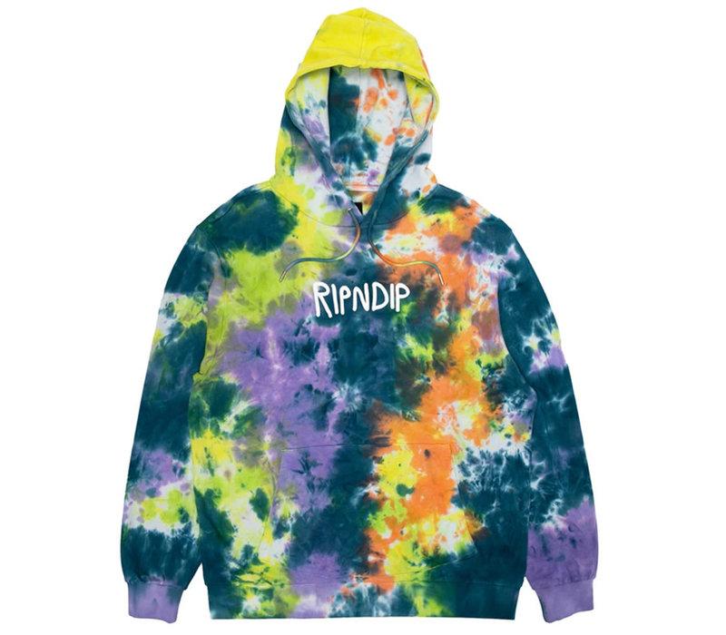 Ripndip Rugger Logo Hoodie Tie Dye
