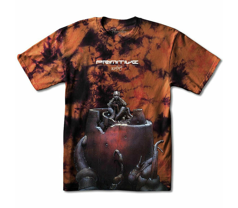 Primitive Moebius Anxiety Man Tee Washed Burnt
