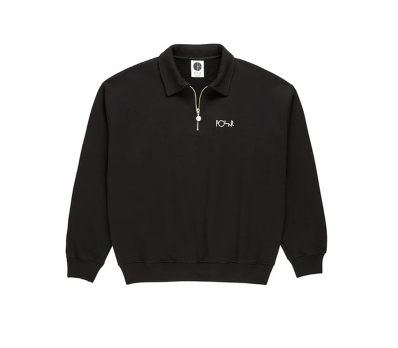 Polar Collar Zip Sweatshirt Black