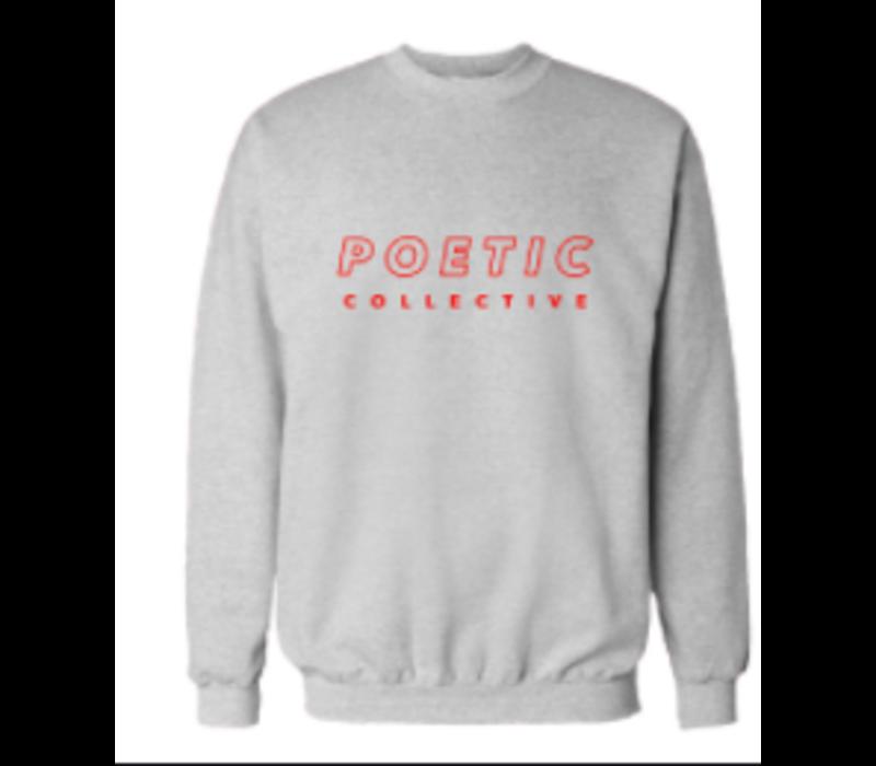Poetic Collective Sport Crew Grey