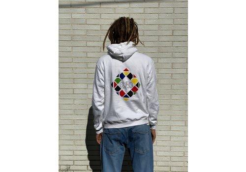 Curb Curb Mosaic Youth Hood White