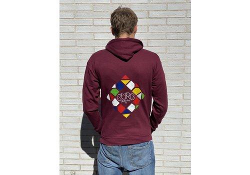 Curb Curb Mosaic Youth Hood Wine