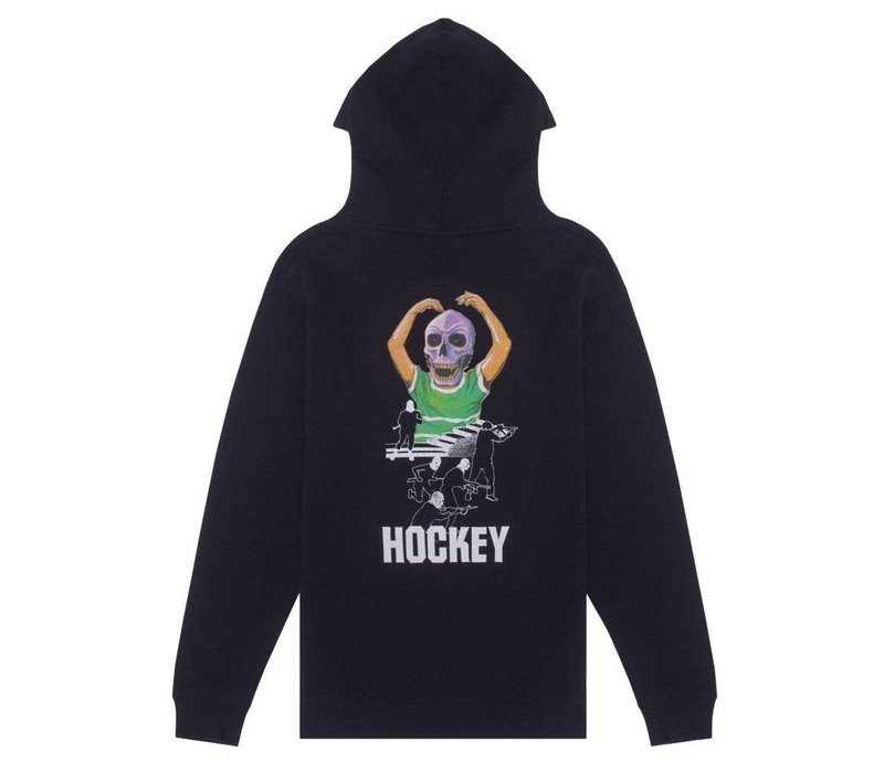 Hockey Skull Kid Hood Black