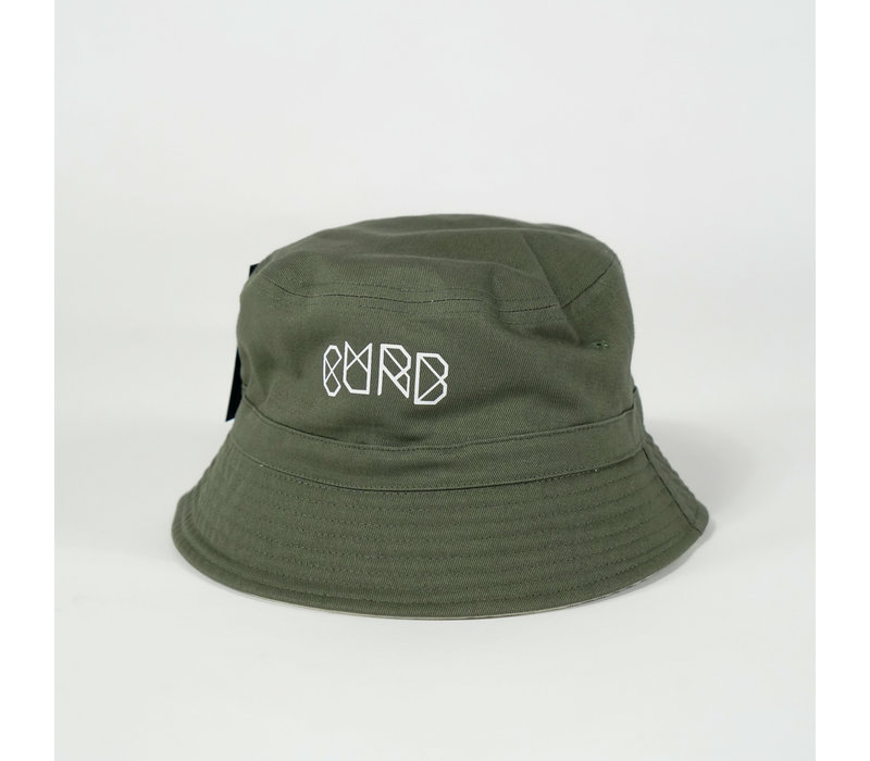 Curb Reversible Bucket Hat Army/Sand