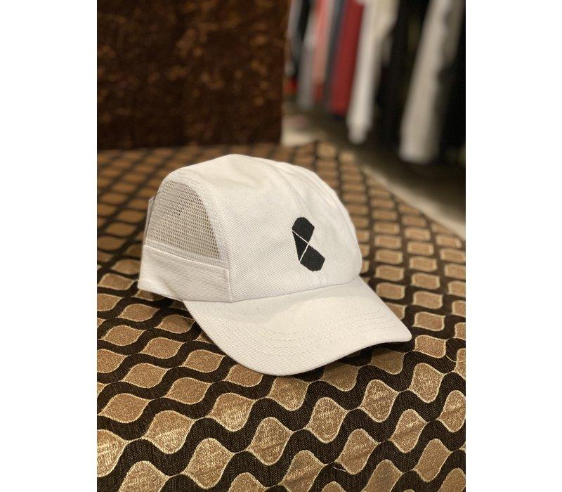 Curb Pac Logo Mesh Cap White