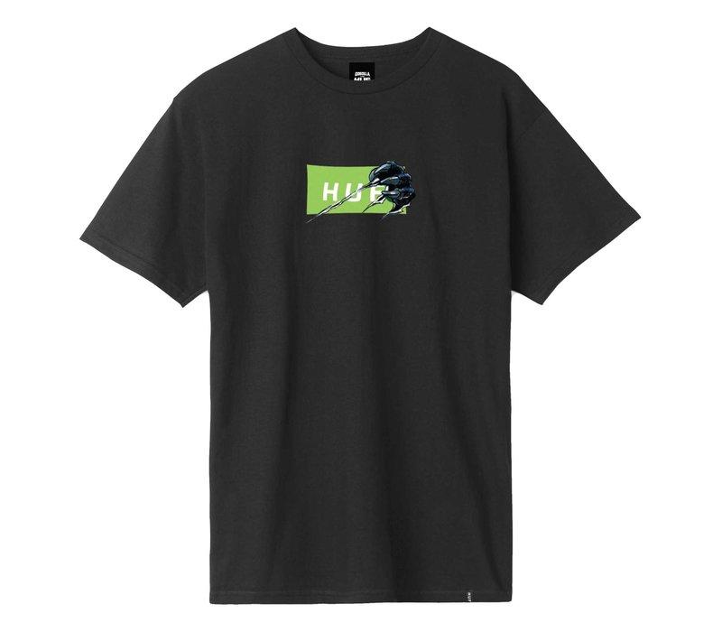 Huf Godzilla Bar Logo Tee Black