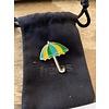 Hélas Helas- Umbrella Pin Turquoise / Yellow / Green