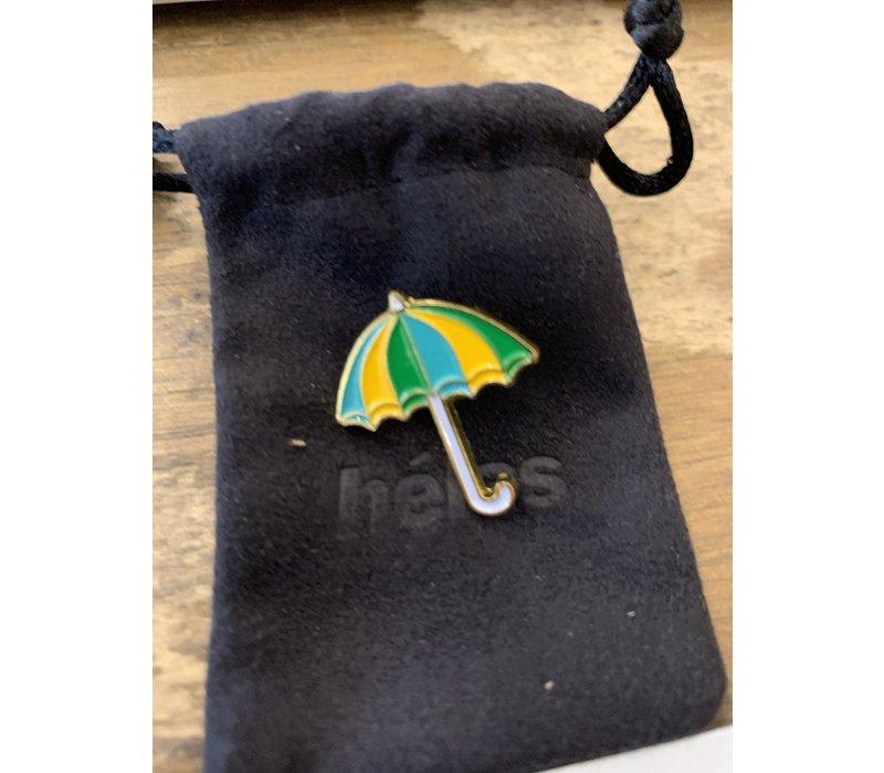 Helas- Umbrella Pin Turquoise / Yellow / Green