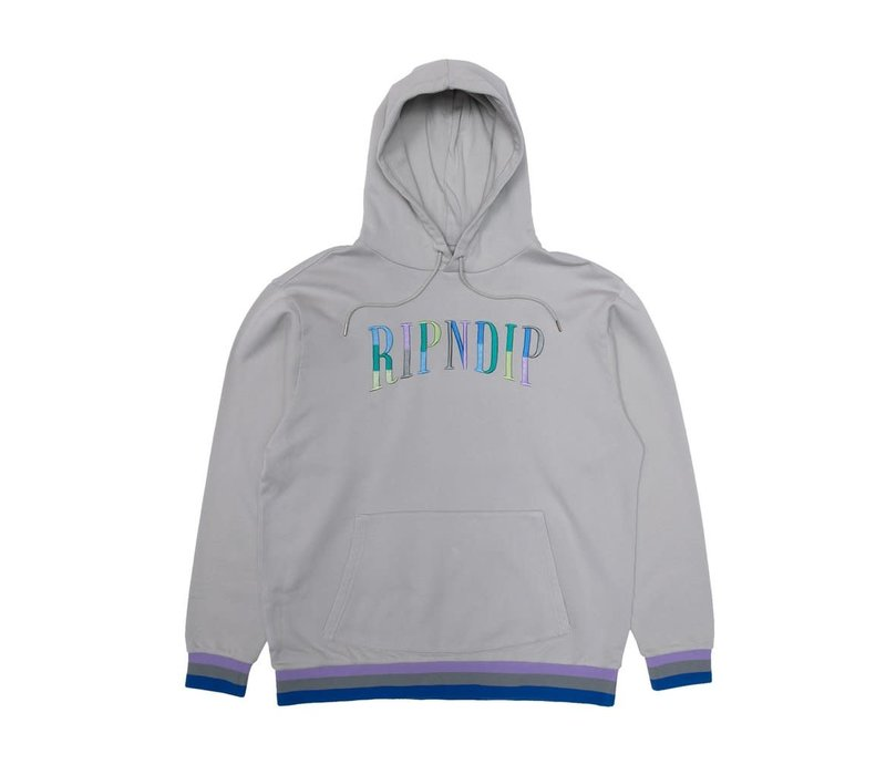 RipNDip Color Block Logo Hood Grey