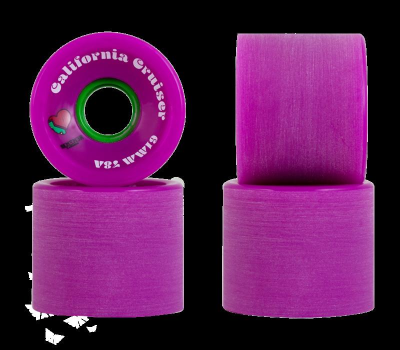 California Cruiser Wheels Purple 61mm 78A