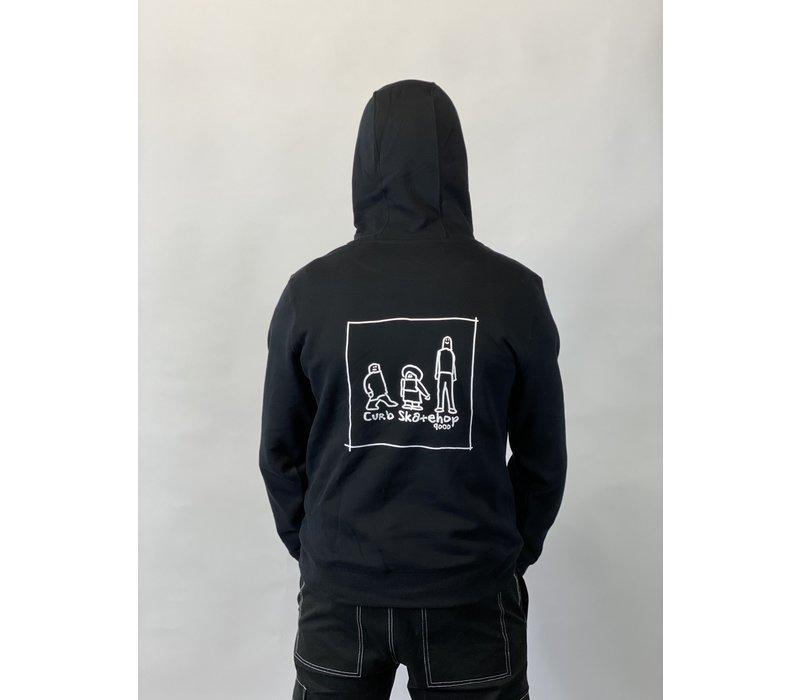 Curb x Gonz Family Hood Black