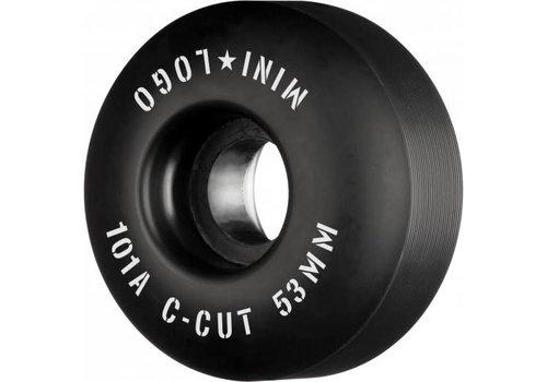 Powell Peralta Mini Logo C-Cut 53mm 101a Wheels Black