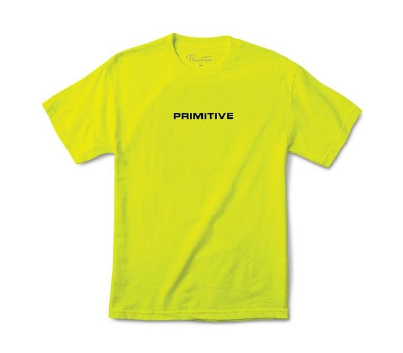 Primitive Zenith Tee Safety Green