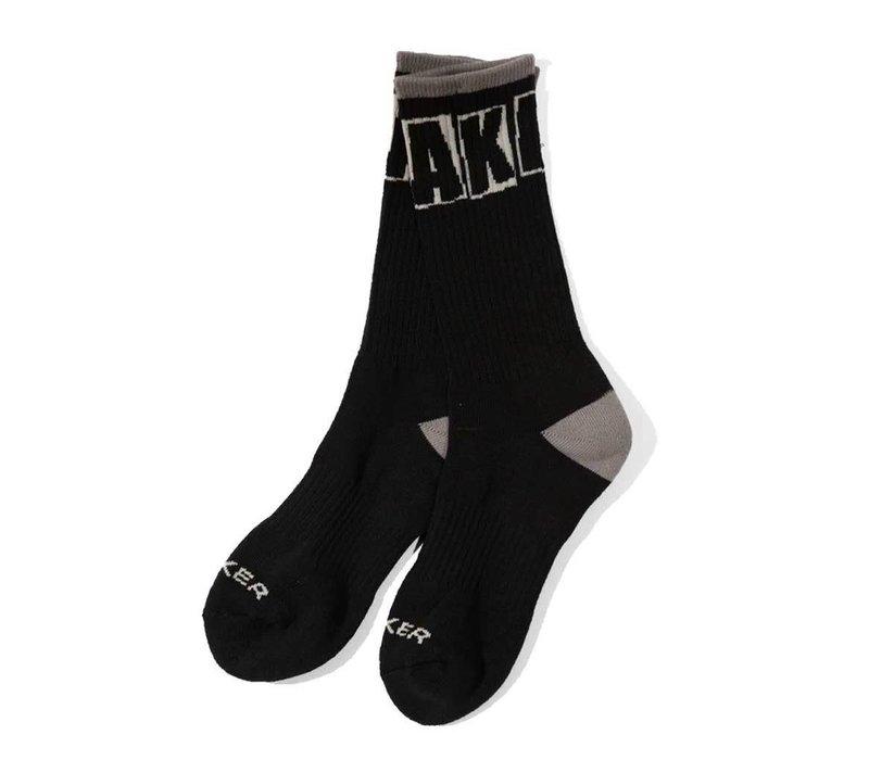 Baker Socks Brand Logo Black/Grey