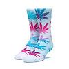 HUF Huf Tiedye Leaves Plantlife Sock White